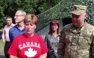 CANADA'S MINISTER VISITED BATTLEFRONT OF RUSSIAN-UKRAINIAN WAR