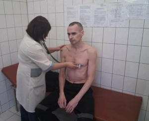 PHOTO PUBLISHED OF RUSSIA'S HOSTAGE, UKRAINIAN FILMMAKER OLEG SENTSOV