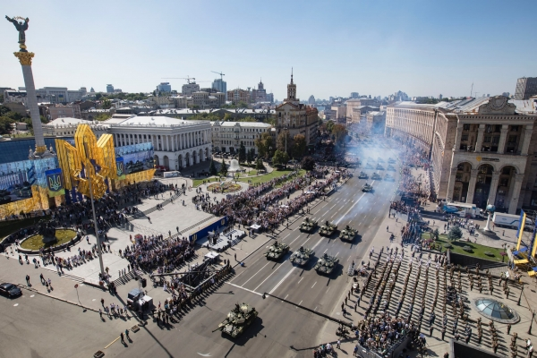 AN IMPRESSIVE DISPLAY OF MILITARY MIGHT ON INDEPENDENCE DAY IN UKRAINE