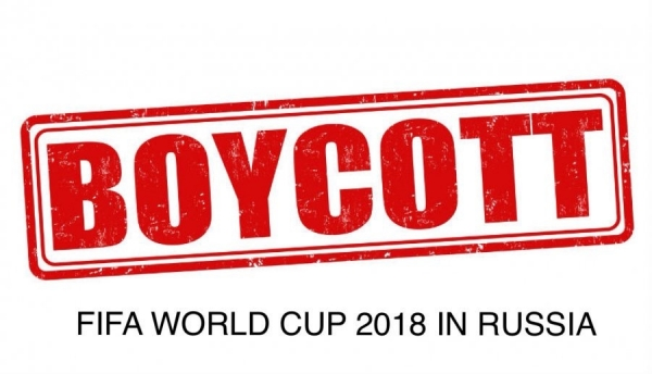 RUSSIA'S WAR AGAINST UKRAINE DRIVES BOYCOTT OF FIFA WORLD CUP