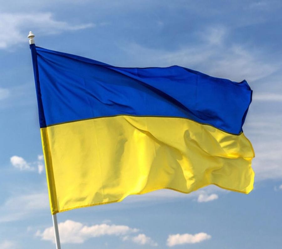 FLYING THE UKRAINIAN FLAG IN UKRAINE EARNS IMPRISONMENT