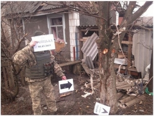 RUSSIAN INVADERS SHELL VILLAGE OF TROITSKE IN UKRAINE