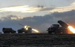 RUSSIA ATTACKS TOWN OF NOVOLUHANSKE IN UKRAINE WITH GRAD ROCKETS — AGAIN