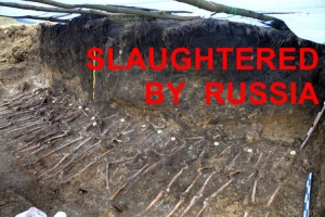 MASS GRAVES EXPOSE HORRORS OF 1920-1991 RUSSIAN OCCUPATION OF UKRAINE