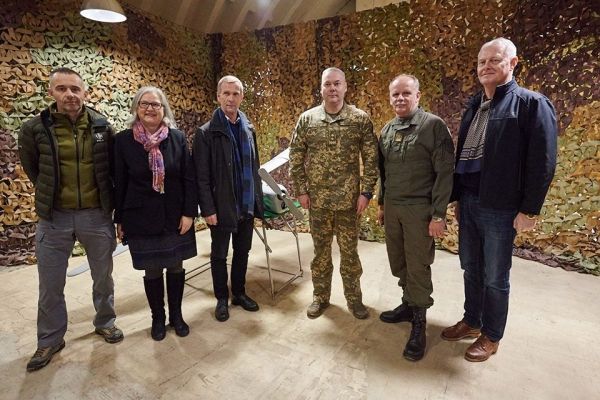AUSTRIAN AMBASSADOR VISITS BATTLEFRONT WHERE RUSSIA IS INVADING UKRAINE