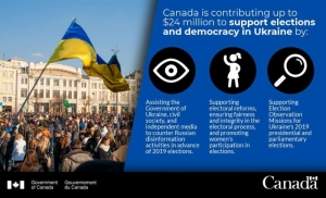 CANADA MAKES BIG COMMITMENT TO SUPPORT ELECTIONS AND DEMOCRACY IN UKRAINE